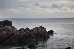 Blue sky at Karimun jawa ocean. Harbour at karimun jawa with blue ocean Stock Images