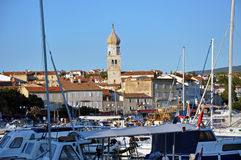 The harbour of Krk city, Croatia Royalty Free Stock Photo