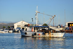 The harbour of Krk city, Croatia Royalty Free Stock Photography