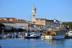 The harbour of Krk city, Croatia Royalty Free Stock Image
