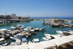Harbour of Kyrenia. The harbour of Kyrenia in Cyprus stock photography