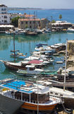Harbour of Kyrenia. Harbour with many boats in Kyrenia, Cyprus royalty free stock images