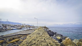 Harbour in Kyrenia city (Girne), Cyprus stock video