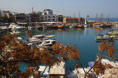 Harbour in Kyrenia (Girne). Northern Cyprus. Royalty Free Stock Photography