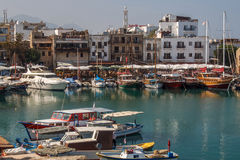 Harbour in Kyrenia (Girne). Northern Cyprus. Stock Image