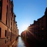Harbour la città Amburgo Fotografia Stock Libera da Diritti