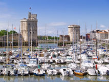 Harbour of La Rochelle, France. The harbour (old harbor) of  La Rochelle in France , region Charente poitou Stock Photos