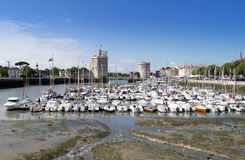 Harbour of La Rochelle, France. The harbour (old harbor) of  La Rochelle in France , region Charente poitou Stock Photography