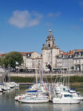 Harbour of La Rochelle, France. The harbour (old harbor) of  La Rochelle in France , region Charente poitou Royalty Free Stock Photography