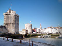 Harbour of La Rochelle, France. The harbour (old harbor) of  La Rochelle in France , region Charente poitou Royalty Free Stock Photos