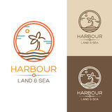 Harbour. Land and Sea. Royalty Free Stock Photography