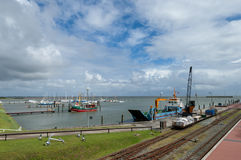 Harbour of Langeoog Royalty Free Stock Images