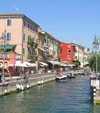 Lazise Harbour, Lake Garda, Italy Royalty Free Stock Photos