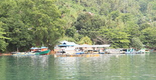 Harbour on Lembeh island Stock Images