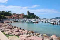 Harbour of Lerici Stock Images