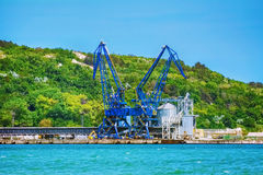 Harbour Level Luffing Crane Royalty Free Stock Image