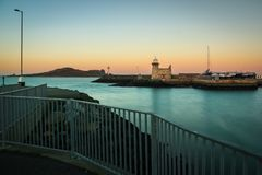 Harbour lighthouse at night. Howth. Dublin. Ireland. Harbour lighthouse at night. Howth. county Dublin. Ireland Stock Image