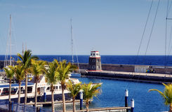 Puerto Calero harbour  Stock Photos
