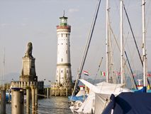 The harbour of Lindau Stock Photo