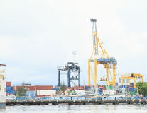Harbour loaders in Bitung Stock Image