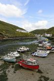 Harbour at low tide, Boscastle, Cornwall Stock Images