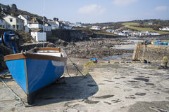 Harbour at low tide with fishing boats Stock Photography