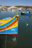 Harbour in Malta. Marsaxlokk, local fishing harbour on Malta, Europe Royalty Free Stock Images