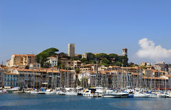 Harbour and marina at Cannes Royalty Free Stock Image