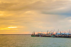 Harbour. Market on the thailand Royalty Free Stock Images