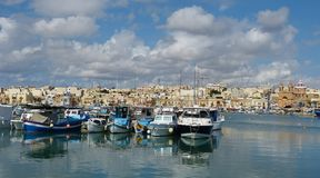 The harbour in Marsaxlokk, Malta Royalty Free Stock Photography