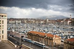 The harbour of Marseille royalty free stock image