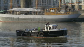 Harbour master boat stock footage