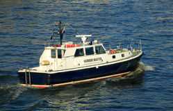 Harbour master's boat Royalty Free Stock Image