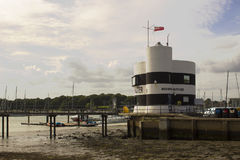 The harbour Masters office overlooking the marina and the river Hamble in Warsash in Hampshire on the south coast of England Stock Photo