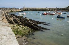 Harbour at Mevagissey in Cornwall, England Royalty Free Stock Image