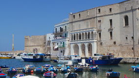 Harbour of Monopoli stock image
