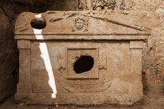 Harbour monumantal tombs at Turkey Olympos Stock Images