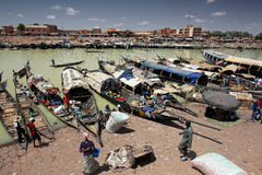 Harbour of Mopti, Mali Stock Photo