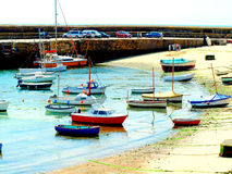 Harbour, Mousehole, Cornwall. Stock Images