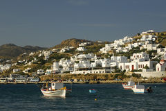 Harbour Mykonos. Boats in harbour Mykonos Cyclades, Greece Royalty Free Stock Photography