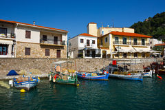 Harbour in Nafpaktos. royalty free stock photos