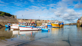 The Harbour at Newquay in Cornwall Royalty Free Stock Photo