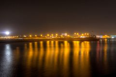 Harbour at night 4 Royalty Free Stock Image