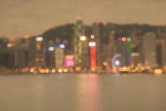 Harbour night lights of Hongkong City Stock Images