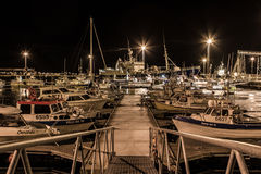 Harbour night secene Royalty Free Stock Photos