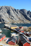 The  harbour of Nusfjord from the top Royalty Free Stock Photo
