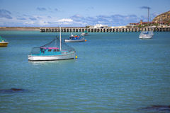 Harbour of Oamaru New Zealand. Boats in the harbour of Oamaru New Zealand Royalty Free Stock Photography