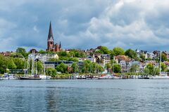 Free Harbour Of Flensburg By The Flensburg Firth  Schleswig Holstein  Germany Stock Image - 209154481