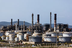 Harbour Oil Refinery Royalty Free Stock Images