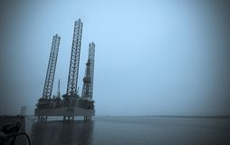 Harbour oil rig Royalty Free Stock Photos